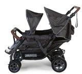 Childhome Quadruple Wandelwagen + Regenhoes + Zonnekappen Antraciet