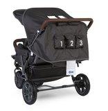 Wandelwagen new Triplet voor 3 kinderen + regenhoes + zonnekap