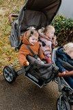 Childhome Triplet Wandelwagen + Regenhoes + Zonnekap Antraciet