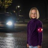Reer reflecterend bandje met LED | roze - olifant_