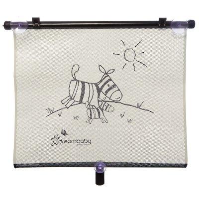 Dreambaby auto zonnescherm Zebra+Tijger (2 stuks) | extra breed 50 cm