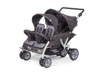 Wandelwagen Quadruple voor 4 kinderen