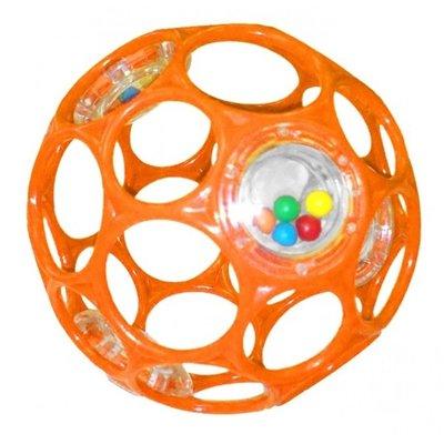 Oball Rattle Classic 10cm baby speeltje oranje