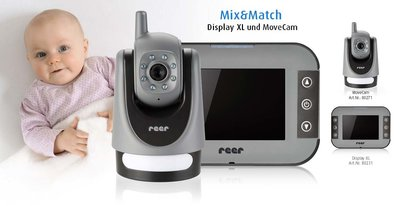 Mix&Match set babyfoon beweegbare camera met XL video-monitor