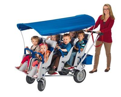 Runabout veilige wandelwagen voor 6 kinderen