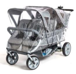 Regenkap voor opvouwbare kinderwagen Cabrio voor 4 kinderen