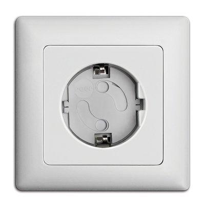 Reer zelfklevende stopcontactbeveiligers Wit (20 stuks)