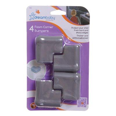 Dreambaby Foam hoekbeschermers lichtgrijs (4 stuks)