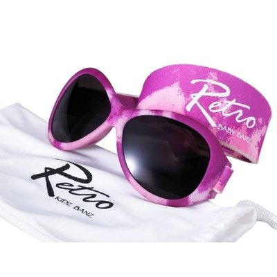 Baby BANZ retro zonnebril roze camo (0-2 jaar)