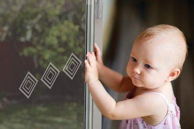Dreambaby decals voor glazen deuren en ramen (6 strips)