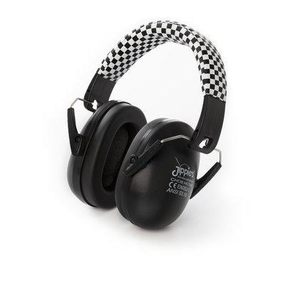 Jippie's gehoorbescherming kind | zwart/wit geblokt