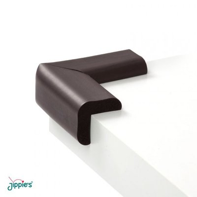 Jippie's foam tafelhoekjes Bruin | 6x6 cm (4 stuks)