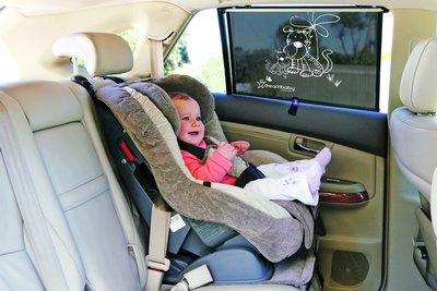 Dreambaby auto zonnescherm Tijger | extra breed 50cm