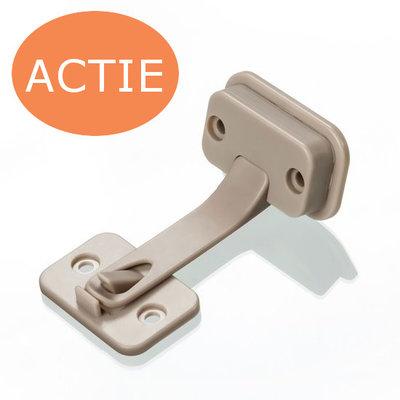 DesignLine kast- en ladebeveiliging zonder schroeven | Taupe (2 stuks)