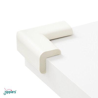 Jippie's foam tafelhoekjes wit   6 x 6 cm (4 stuks)