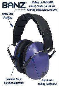 Banz gehoorbeschermer Donker paars