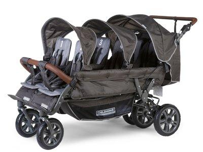 Wandelwagen Six Seater voor 6 kinderen + regenhoes + zonnekap
